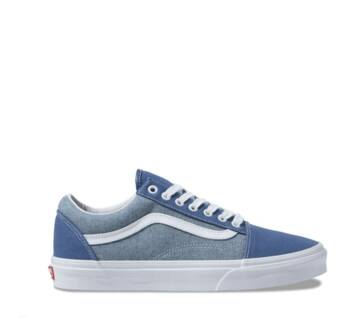 Old Skool Chambray Navy White