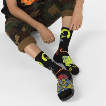 VANS X NIGHTMARE BEFORE CHRISTMAS CREW SOCK OOGIE BOOGIE