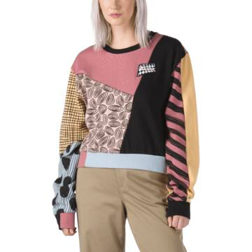 VANS X NIGHTMARE BEFORE CHRISTMAS SALLY PATCHWORK PULL OVER CREW DISNEY