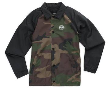 Boys Torrey Oversized Camo Jacket