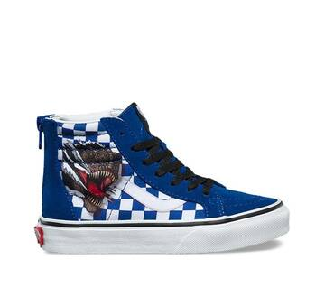 Kids SK8-Hi Zip Checkerboard Dinosaur