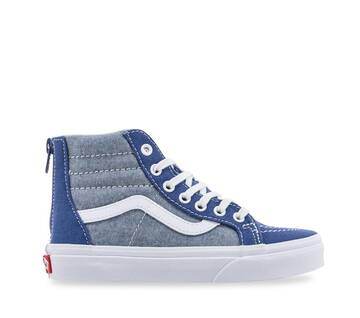 Kids Sk8-Hi Zip Cambray Navy/White