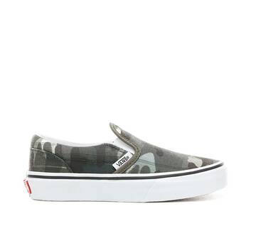 Kids Slip On Plaid Camo
