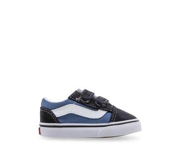 Toddler Old Skool Velcro Canvas Navy/Whie