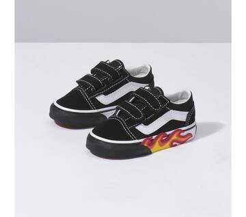 Toddler Old Skool Velcro Flame Cut Out