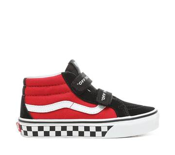 Kids Sk8-Mid Reissue V Logo Pop Black/Red