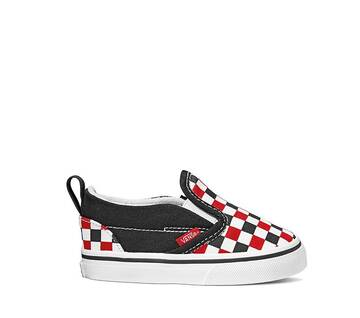TODDLER SLIP ON RED CHECKER