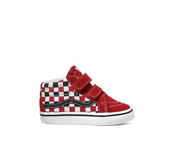 TODDLER SK8-MID VELCRO REISSUE RED CHECKER