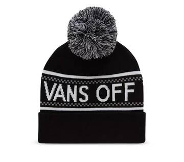 PEP RALLY BEANIE BLACK/WHITE