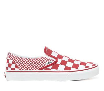 Slip On Mix Checker Chilli Pepper/True White