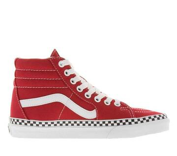 Sk8-Hi  Check Foxing Red