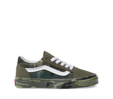 Kids Old Skool V Plaid Camo