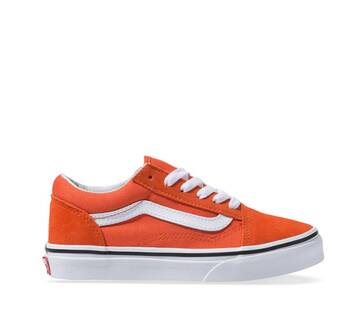 Kids Old Skool Orange/White