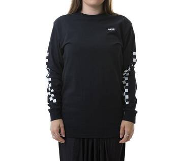 Checker On Long-Sleeve Tee