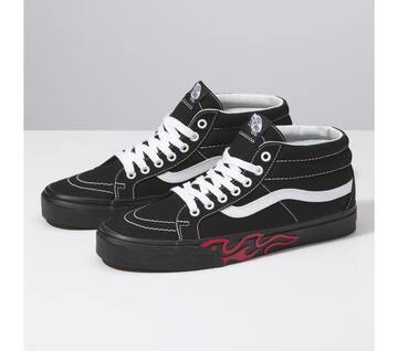 Sk8-Hi Mid-Reissue Flame Cut Out