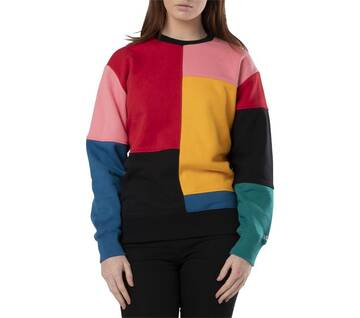 Patchy Crew Pullover Patchwork