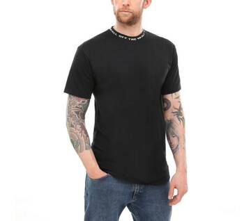 Off The Wall Black Short Sleeve Jacquard Tee