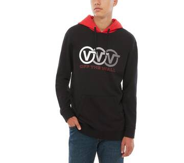 Triple Circle Black/Red Pullover Hoodie