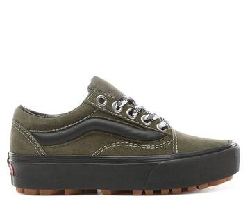 Old Skool 90s Retro Lug Platform Green