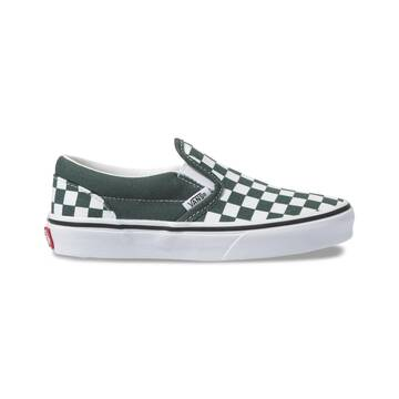 YOUTH CLASSIC SLIP ON CHECKERBOARD TREKKING GREEN