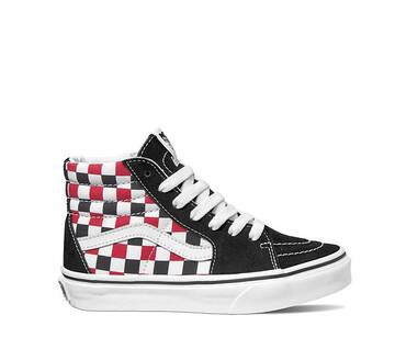 YOUTH SK8-HI CHECKER RED