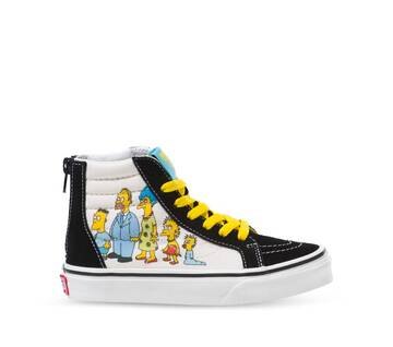 The Simpsons x Vans Kids Sk8-Hi Zip 1987-2020