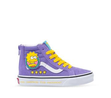 The Simpsons x Vans Kids Sk8-Hi Zip Lisa 4 Prez
