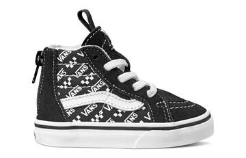 TODDLER SK8-HI ZIP LOGO REPEAT BLACK