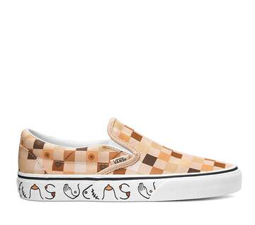 BREAST CANCER AWARENESS CLASSIC SLIP ON NUDE CHECKERBOARD