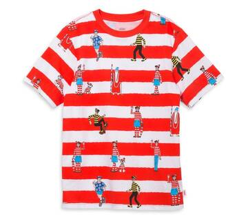 Vans X Where's Waldo Boys Stripe T-Shirt