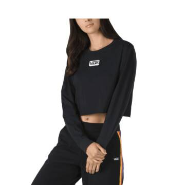 Avenue Long Sleeve Black Crop