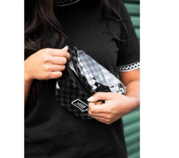 Clear Cut Fanny  Bag Black Check