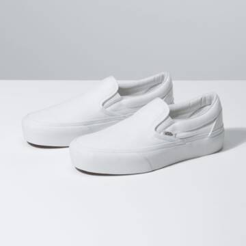 CLASSIC SLIP-ON PLATFORM TRUE WHITE