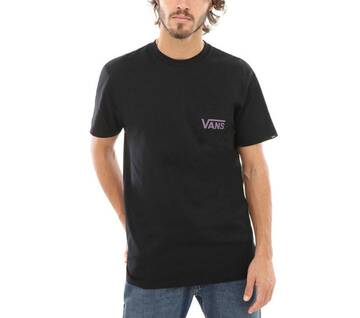 Off The Wall Classic Black/Plum Short Sleeve Tee