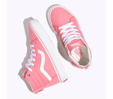 Sk8-Hi Kids Zip Heart Eyelet Strawberry