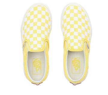 Kids Slip On Checkerboard Aspen Gold