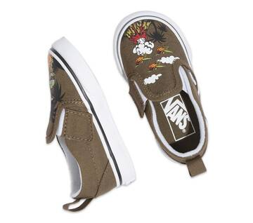 TODDLER DINEAPPLE FLORAL SLIP-ON V SHOES