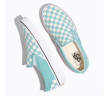 Slip On Checkerboard Aquia Haze/ White