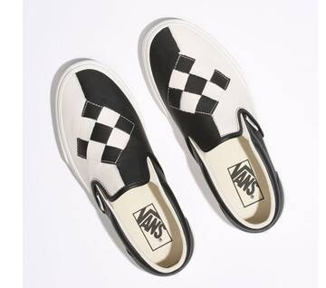 Slip On Woven Leather Checkerboard