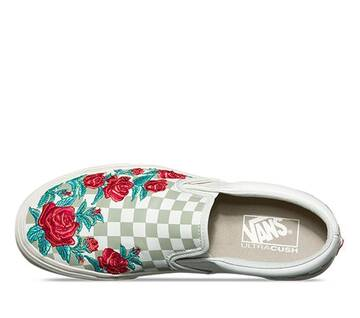 Rose Embroidery Slip-On DX
