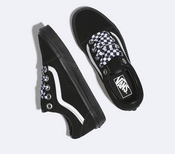 Old Skool Check Lace Black