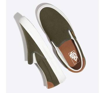Slip On Flannel Olive