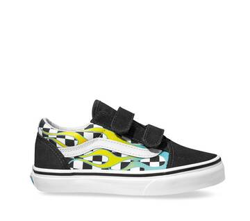 Old Skool Kids V Surf Flame Scuba Blue / Black