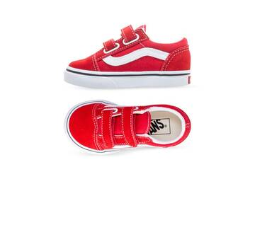 TODDLER VELCRO OLD SKOOL RED