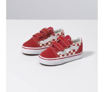TODDLER OLD SKOOL VELCRO PRIMARY CHECK RED