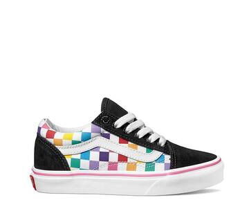 YOUTH OLD SKOOL CHECKER RAINBOW