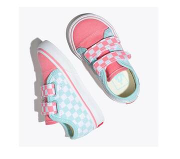 Toddler Style 23 Velcro Checkerboard Blue/Pink