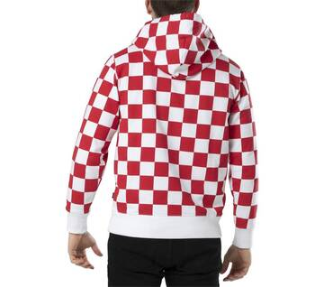 All Over Checker Red/White Hoodie