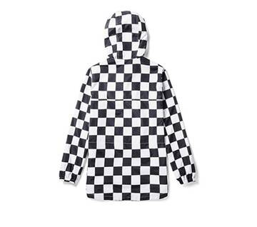 All Over Checker Black/White Anorak