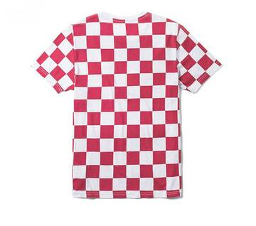 All Over Checker Red/White Short Sleeve Tee